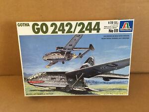 Italeri-No-111-Gotha-GO-242-244-1-72-Scale-Model-Kit-Airplane-Plane