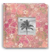 Pioneer Photo Albums 200-pocket Hibiscus Design Fabric Frame Cover Photo Album F on sale