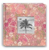 Pioneer Photo Albums 200-pocket Hibiscus Design Fabric Frame Cover Photo Album F on Sale