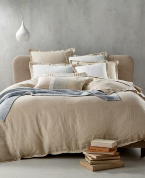 Hotel Collection LN12KD790 Natural Linen King Comforter
