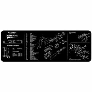 EXPLODED-DIAGRAM-DISASSEMBLY-GUN-CLEANING-GUNSMITH-TEKMAT-for-RUGER-10-22-RIFLE