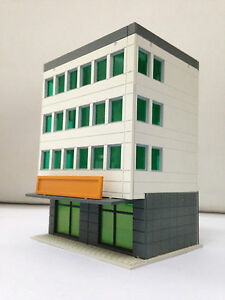 Outland Models Modelleisenbahn farbige moderne Gebäude 4-stöckigen ...