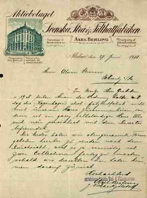 100% QualitäT Aktiebolaget Svenska Strä- & Filthattfabriken Axel Berling 1918 Malmö Sebnitz #