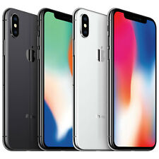 Apple iPhone X Silver & Gray GSM Unlocked 64gb or 256gb