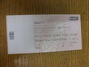 15-02-2014-Ticket-Rotherham-United-v-Stevenage-Complete-Ticket-Thanks-for-v