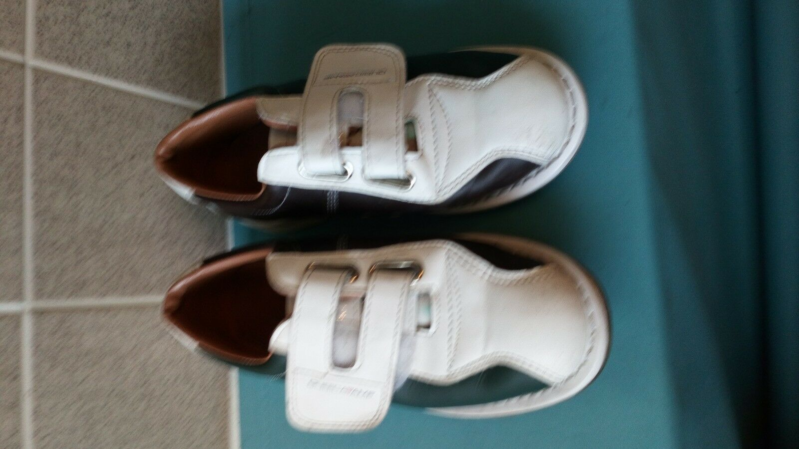 Qubica Amf All Leather Men Classic Bowling White And Green shoes US 38