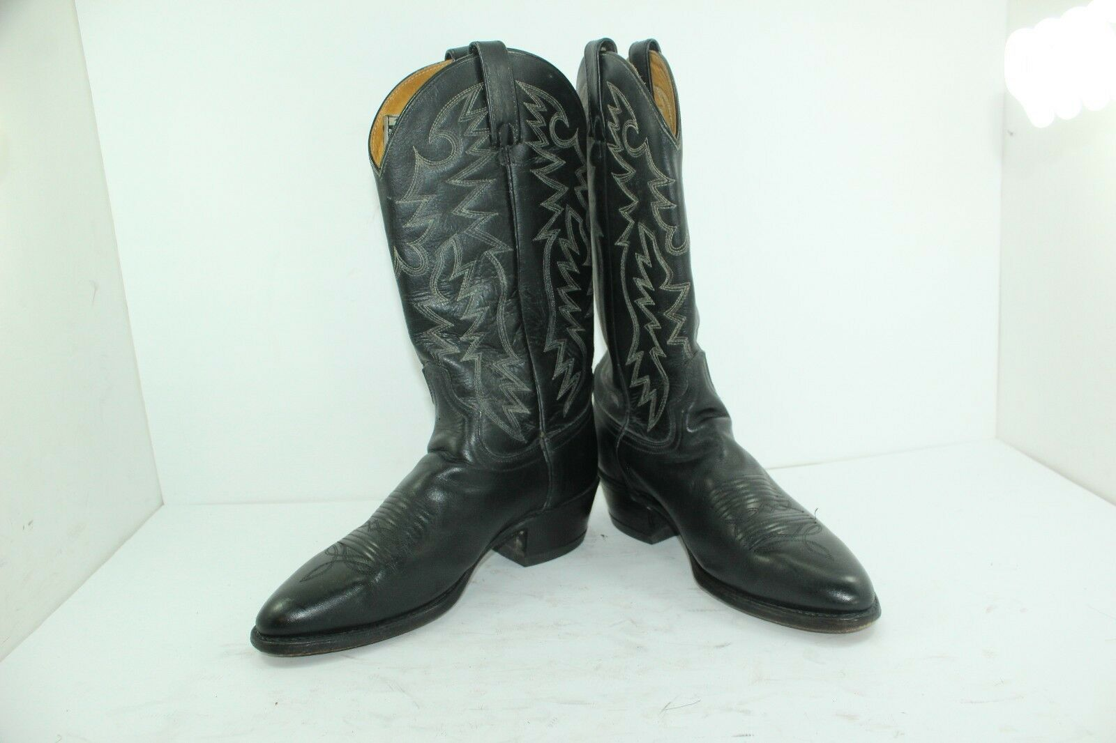 2ed1b1cf7ca GREAT WESTERN BOOTS SIZE 8 8 8 .5 D BLACK LEATHER b95e34 - golf ...