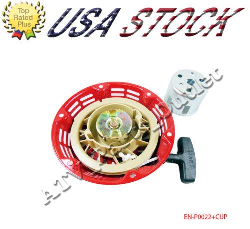 Pull Start Recoil Starter with Cup for Honda GX120 GX200 5.5HP Engine Generator