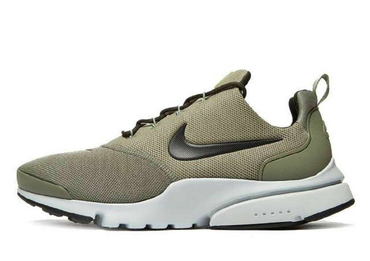 Latest NIKE AIR PRESTO FLY-Men's Trainers()Olive Green Brand New Box