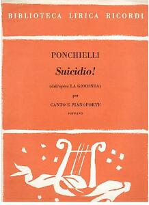 Ponchielli: Suicide Aus Gioconda Für Sopran E Klavier - Erinnerungen