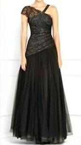 NEW-BCBG-MAX-AZRIA-BLACK-LACE-TULLE-SEQUIN-IBA6L080-GOWN-SIZE-4