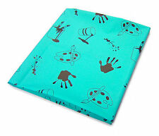 Childrens Plastic Messy Mat Table Cover Floor Waterproof Painting Feeding Red 1m