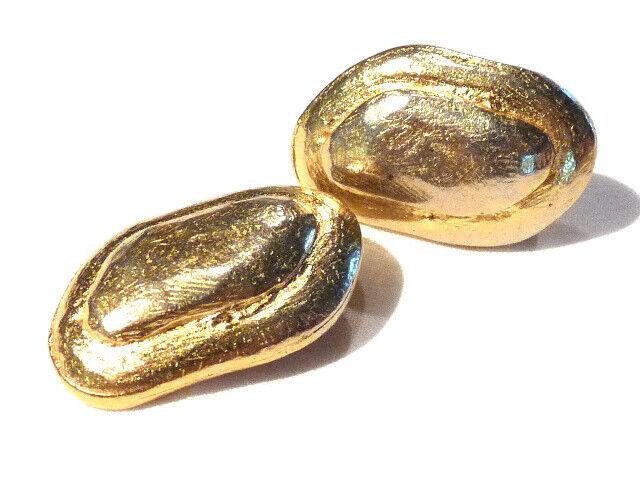 Bijou alliage doré boucles d'oreilles clips Edouard Edouard Edouard Rambaud Paris earrings 056ba5