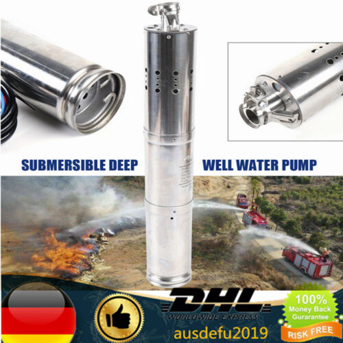 24V DC Brushless Solar Tiefbrunnen Tauchpumpe Wasserpumpe 2m3//H DE