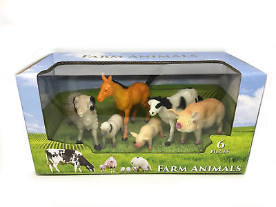 Ram Sheep Lamb Horse Cow Pig Sow Piglet New Toys & Hobbies Systematic 6pc Farm Yard Animal Play Set