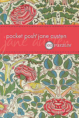"""""""AS NEW"""" The Puzzle Society, Pocket Posh Jane Austen: 100 Puzzles, Paperback Boo"""