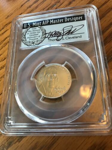 2017 S ENHANCED JEFFERSON NICKEL PCGS SP70 FS CLEVELAND FIRST DAY ISSUE 5C