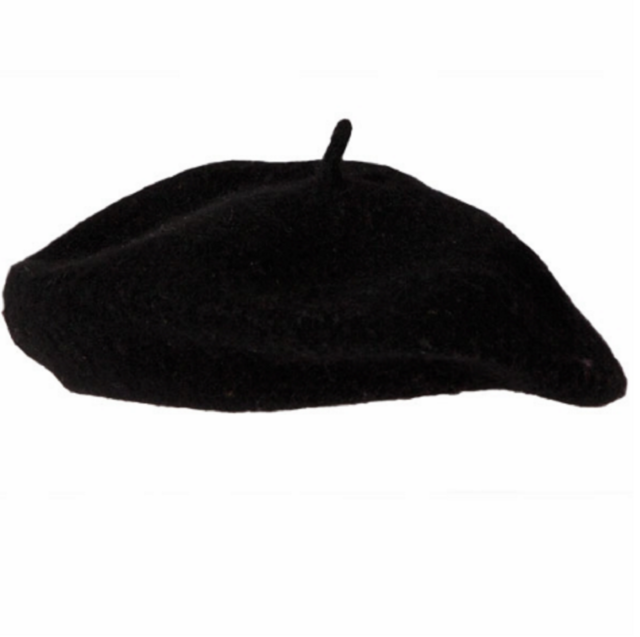 Adult French Man Black Beret Hat France Fancy Dress Costume Accessory 06910fffbacf