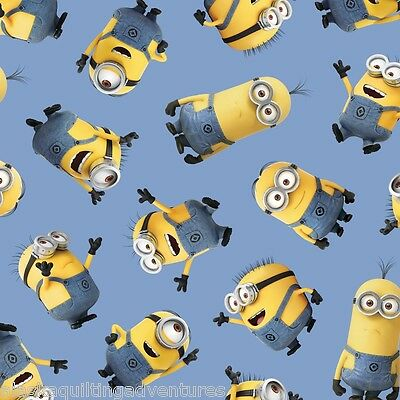FABRIC Quilting Treasures  ~ DESPICABLE ME 1 IN A MINION ~ by 1//2 yd 23994 O