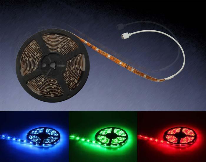 5 METER RGB 5050 LED STRIP LEISTE STREIFEN SMD   INKL. FERNBEDIENUNG + NETZTEIL
