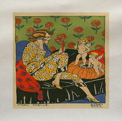 Vintage Lady Printed On Fabric Panel Make A Cushion Upholstery Craft