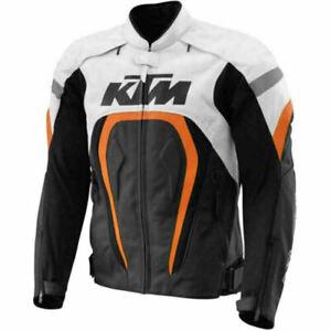 Ktm Hommes Moto Veste En Cuir Piste Courses Motogp Vestes De Motard En Cuir Ce Ebay
