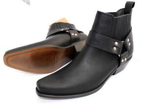 Herren Leder Stiefeletten Western Cowboy Cowboy Cowboy Stiefel Halbstiefel Leder ... 5c6a86