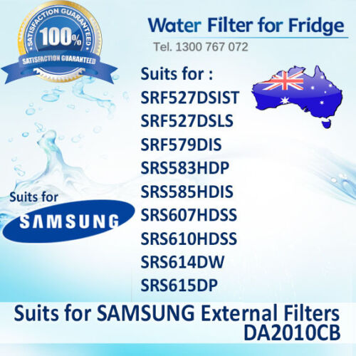 LG /& SAMSUNG PREMIUM COMPATIBLE REPLACEMENT AQUA BLUE H2O FRIDGE WATER FILTERS