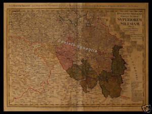 Cartina Geografica Europa Centrale.Carta Geografica 1700 Silesia Europa Centrale Polonia Ebay