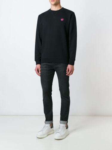 M C Q /% 100  Authentic swallow patch sweatshirt  BLACK   DEFECT