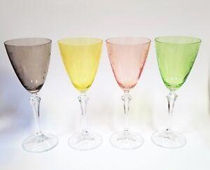 Set-4-Tout-Usage-Vert-Citron-Gris-Jaune-Rose-Corail-Cristal-Verre