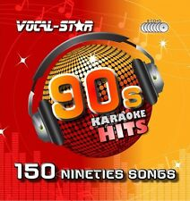 VOCAL-STAR 90s DECADES SONGS KARAOKE DISC PACK CD+G CDG 8 DISCS 150 SONGS