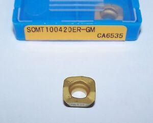 (10) SOMT100420ER-G<wbr/>M CA6535 KYOCERA MILLING INSERTS HIGH FEED RAPTOR ENDMILL