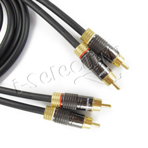 3m Ultra Premium 2 RCA to 2 RCA Stereo Audio Cable Cord Male to Male Gold Plated