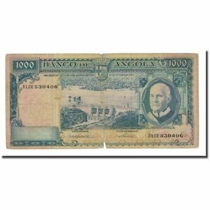 1962-06-10 Km:96 Angola #168027 F Banknote Packing Of Nominated Brand 12-15 1000 Escudos
