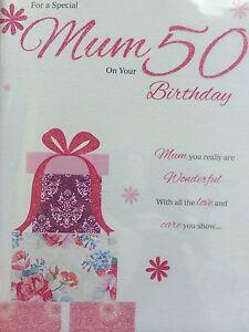 Das Bild Wird Geladen MAM 50th Geburtstagskarte