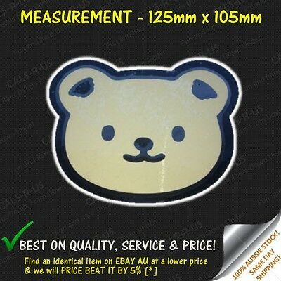 Japanese Cartoon Cute Hello Kitty Brown Bear Friend Vinyl Car Decal Sticker