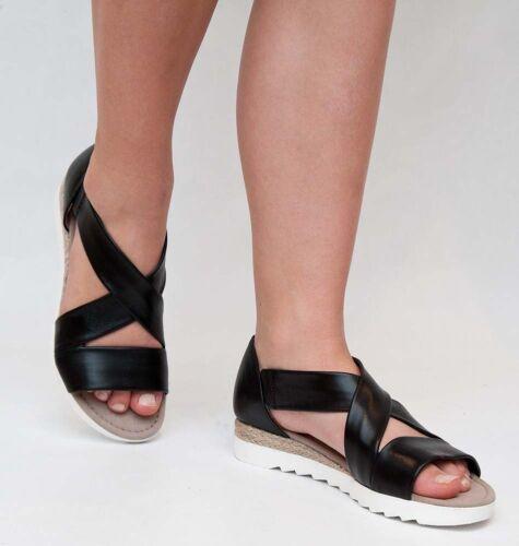 Gabor Comfort bride sandales jute argent et en cuir noir 62.711 G NEUF 2017