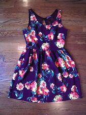 Soprano Ladies Teen Floral Dress w/ Black Lace Black, size M