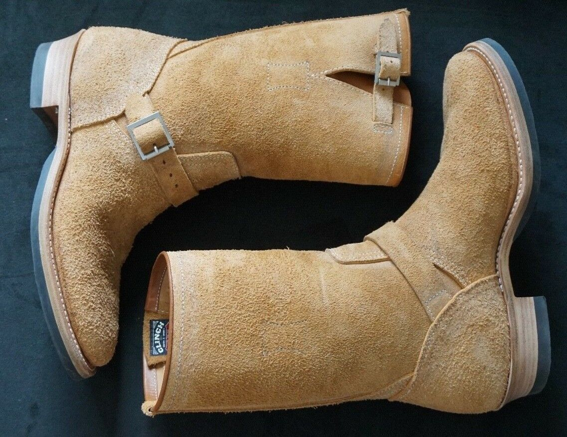 CLINCH CLINCH CLINCH ENGINEER Stiefel NATURAL ROUGHOUT CN LAST BRASS TOKYO CAT'S PAW JAPAN MADE fafb5f
