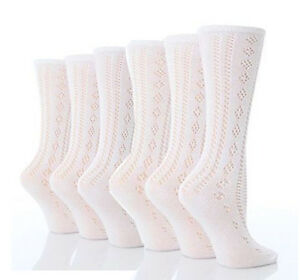 NEW SIZE 6-8 1//2 GIRL/'S IVORY LACE TOP SOCKS x 2 PAIRS