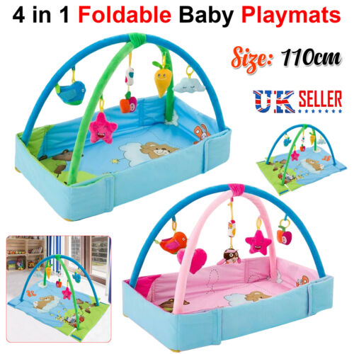 Large Light /& Musical 4 in 1 Foldable Baby Playmats Play Mat Fitness Gym Nest