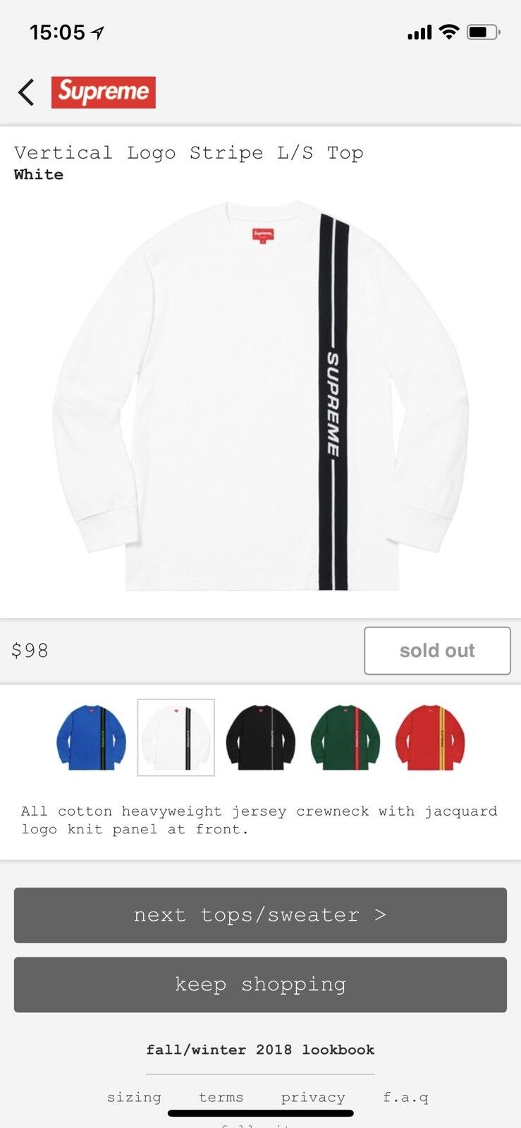 Supreme Weiß schwarz Grünical Logo Long Sleeve hemd (Medium)
