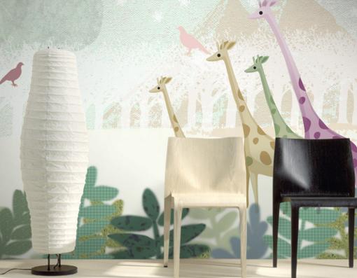 3D Cute Giraffe Bird 7 Wall Paper Murals Wall Print Wall Wallpaper Mural AU Kyra