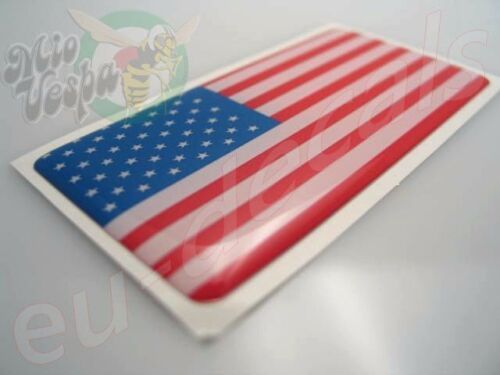"""USA American flag badge 3D Decal sticker 70mm//2.76/"""" X 35mm//1.38/"""" car//scooter//atv"""