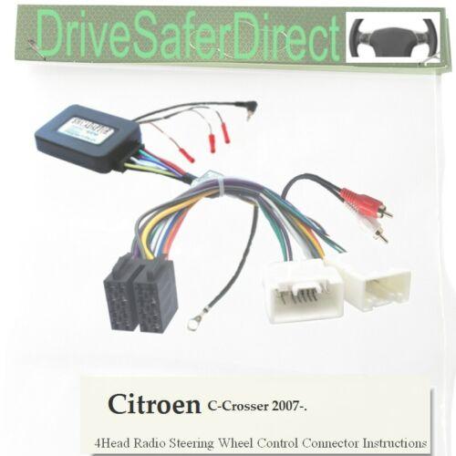 ANAlogz-SWC-5090-08 Tallo Adaptador Para Aftermarket Radio// crosser 07-Citroen C