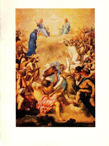 "1977 Vintage TITIAN /""THE HOLY TRINITY LA GLORIA/"" GORGEOUS offset Art Lithograph"