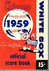 1959-MLB-Baseball-program-Detroit-Tigers-Chicago-White-Sox-unscored-VG