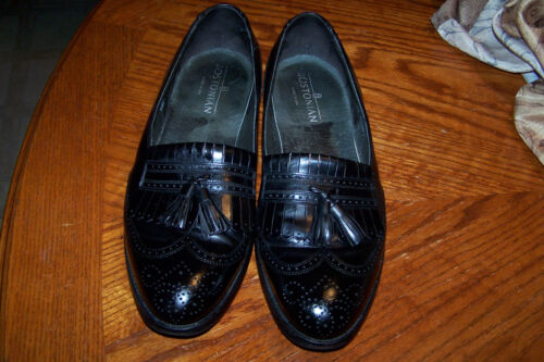 Wing Scarpa uomo Tip Solid Black Bostonian Kiltie Abito 10d Leather Tassel da Loafer qwIEZnx1Ug