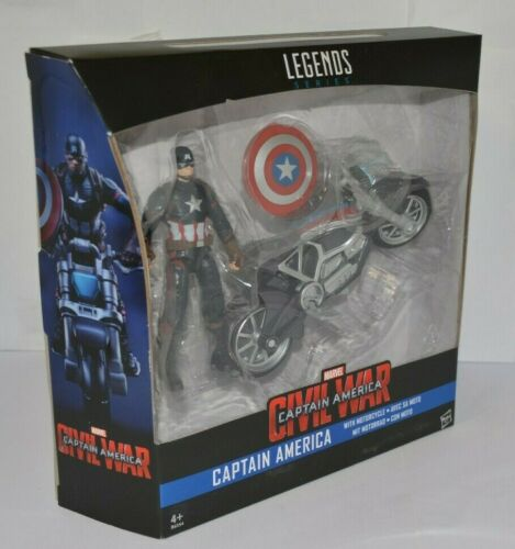 MARVEL LEGENDS CAPTAIN AMERICA CIVIL WAR CAPTAIN AMERICA WITH MOTORCYCLE